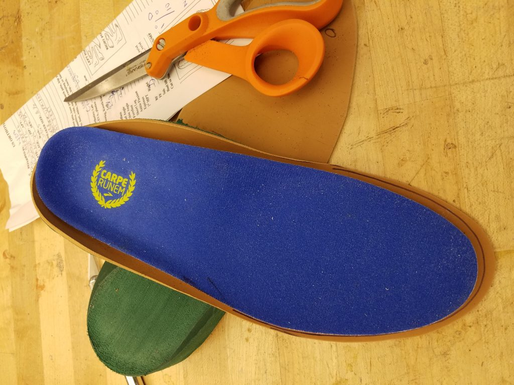 U.s orthotic Center each foot is physically inspected and measured